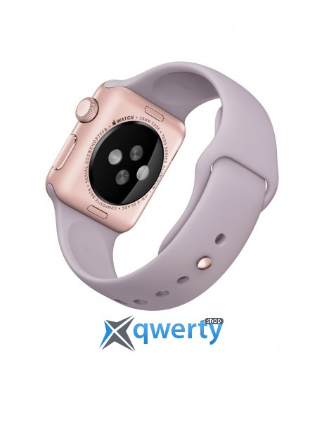 Apple Watch 42mm Rose Gold Aluminum Case with Stone Sport Band NEW (MLC62)