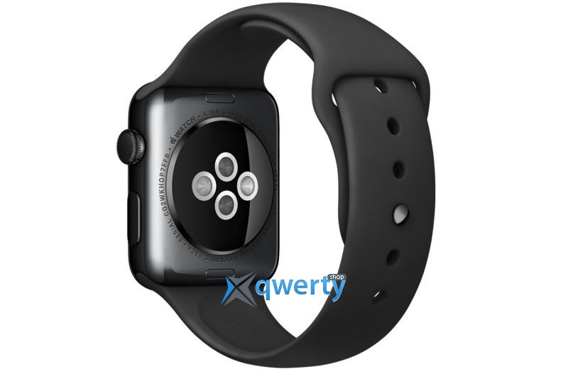 Apple Watch MLCK2 38mm Space Black Stainless Steel Case with Black Sport Band