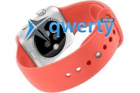 Apple iWatch 42mm Silver Aluminum Case with Pink Sport Band (MJ3R2)