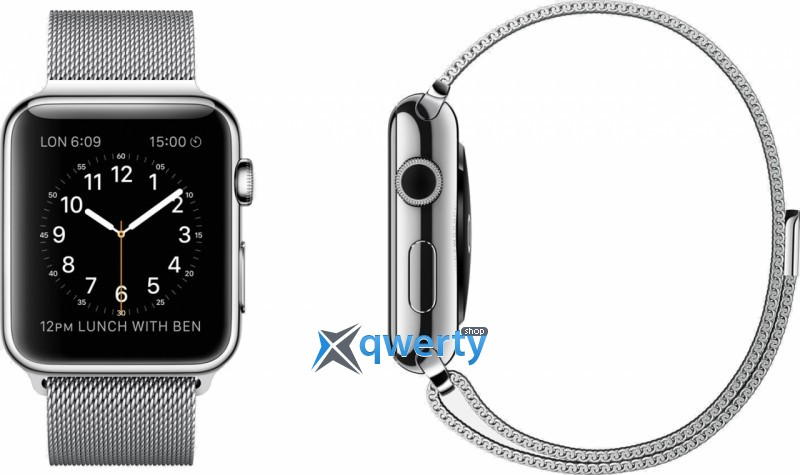 Apple iWatch 42mm Stainless Steel Case with Milanese Loop (MJ3Y2)