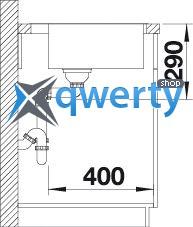 BLANCO ANDANO 400-IF/A (519555) сталь нерж.с клапаном