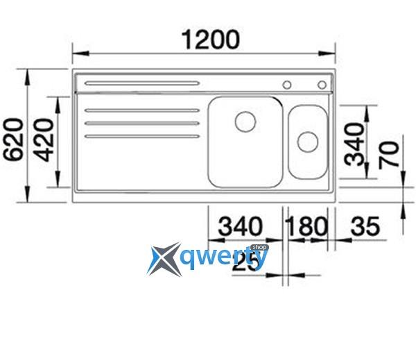BLANCO AXIS 6 S-M (512125) сталь нерж.
