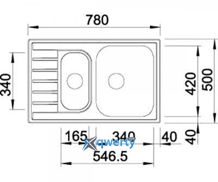 BLANCO LIVIT 6 S Compact (515117) сталь нерж.