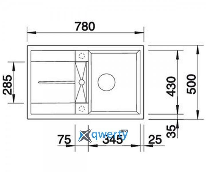 BLANCO METRA 45 S silgr. (520566) жемчуг