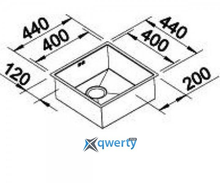 BLANCO ZEROX 400-F (516118) сталь нерж.