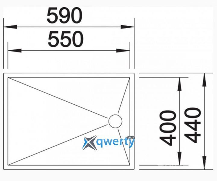 BLANCO ZEROX 550-T-F (513302) сталь нерж.