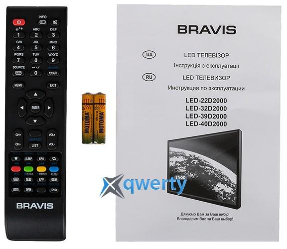 BRAVIS LED-32D2000+T2 black
