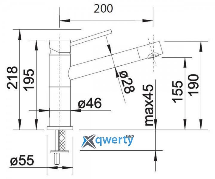 Blanco ALTA Compact silgr. (515320) хром/песочный