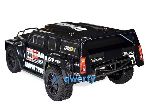 HSP Hummer Dakar H140 1:14 трофи - трак 4WD электро черный RTR