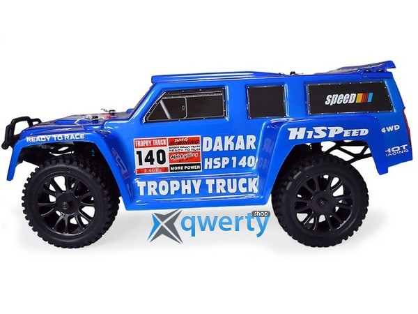 HSP Hummer Dakar H140 1:14 трофи - трак 4WD электро синий RTR