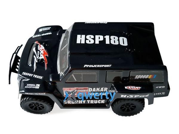 HSP Hummer Dakar H180 1:18 трофи - трак 4WD электро черный RTR