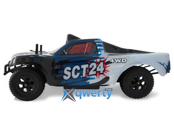 HSP ТT24 1:24 шорт-корс 4WD электро синий RTR