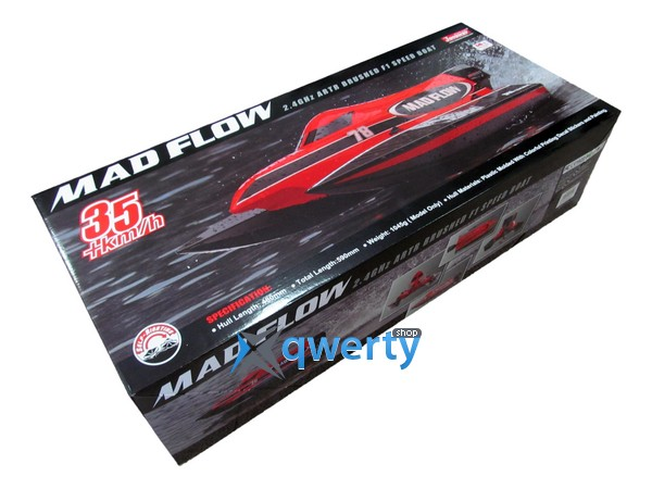 Joysway Mad Flow 1/16 0.59м 2,4ГГц электро бело-черная ARTR