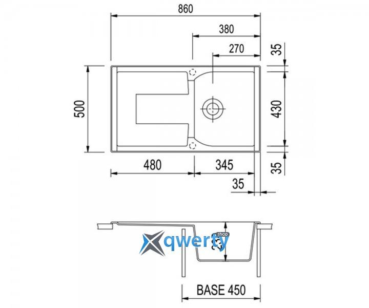 Plados CORAX 86.10 UG 95 (CX0861/95) эбонитовый черный