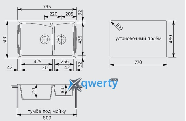 Plados HARMONY 79.20 UG 95 (HR0792/95) эбонитовый черный