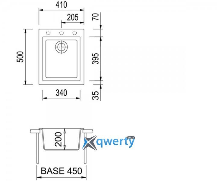 Plados ONE 41.10 UG 95 (ON4110/95) эбонитовый черный