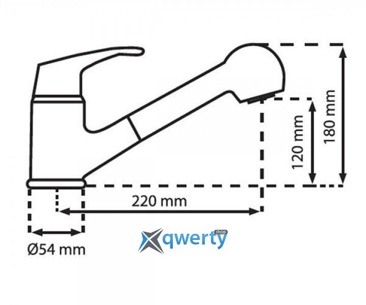 Plados QUARMIXEXT/40SP матовая нерж.сталь
