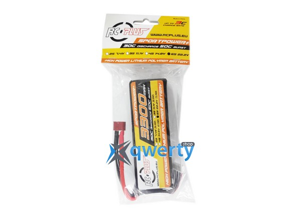 RC Plus SPORTSLINE Li-Po battery 22.2V 3300 mAh 6S1P 30C T-plug Soft Case