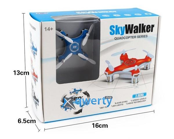 SkyWalker мини 45мм 360° Flip синий RTF
