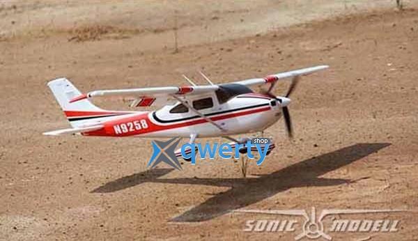 Sonic Modell Cessna182 500 Class V2 для начинающих электро бесколлекторный 1410мм RTF