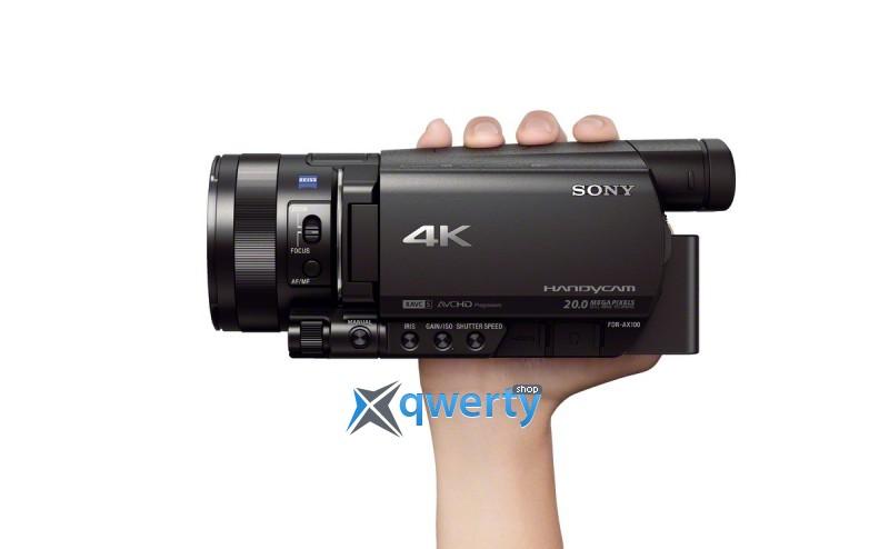 Sony Handycam FDR-AX100 4K Flash Black (FDRAX100EB.CEE) Официальная гарантия!