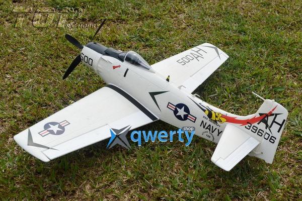 TOP RC A1Sky Raider warbird копия электро бесколлекторный 800мм белый с пилотом PNP