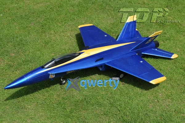 TOP RC F-18 V1импеллерный копия электро бесколлекторный 686мм синий 2.4ГГц RTF