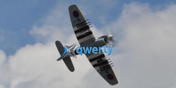 TOP RC Tempest warbird копия электро бесколлекторный 800мм белый (с пилотом) PNP