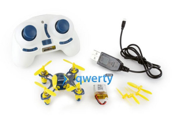 UDIRC 2,4 GHz 40мм мини 3.7V 100mAh Li-Po 4Ch Indoor and Outdoor Flight Mode Yellow/Blue