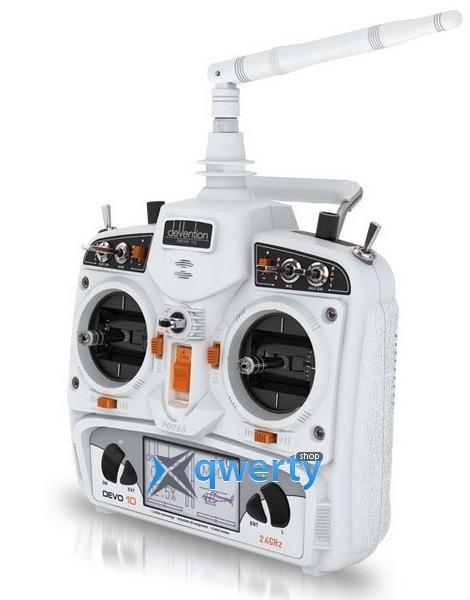 Walkera DEVO-10 / RX1002 Комплект аппаратуры для мультикоптеров, вертолетов и самолетов (белый)