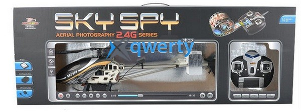 ZT Model Sky Spy 570 мм 4CH электро 2,4 ГГц, камера, FPV, гироскоп, чёрный (Metal RTF)