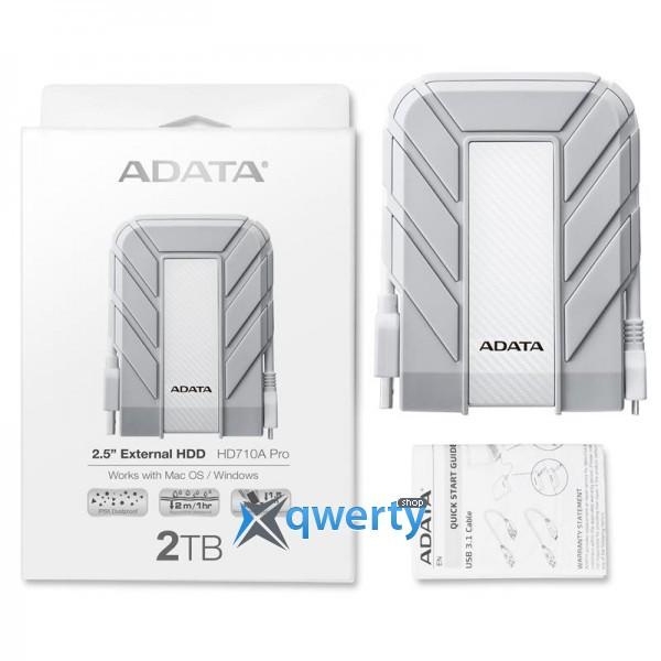 ADATA 2.5 USB 3.1 2TB HD710A Pro IP68 White (AHD710AP-2TU31-CWH)