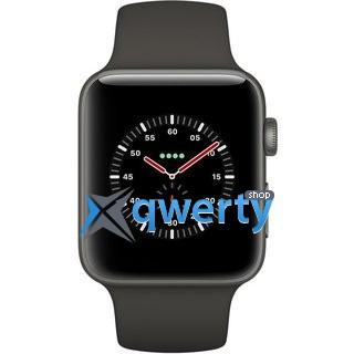 Apple Watch Edition GPS + LTE MQKE2 42mm Gray Ceramic Case with Gray/Black Sport
