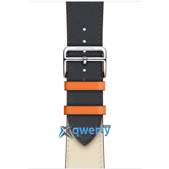 Apple Watch Hermes Series 4 GPS + LTE (MU6X2) 44mm Stainless Steel Case with Indigo/Craie/Orange Swift/Single Tour
