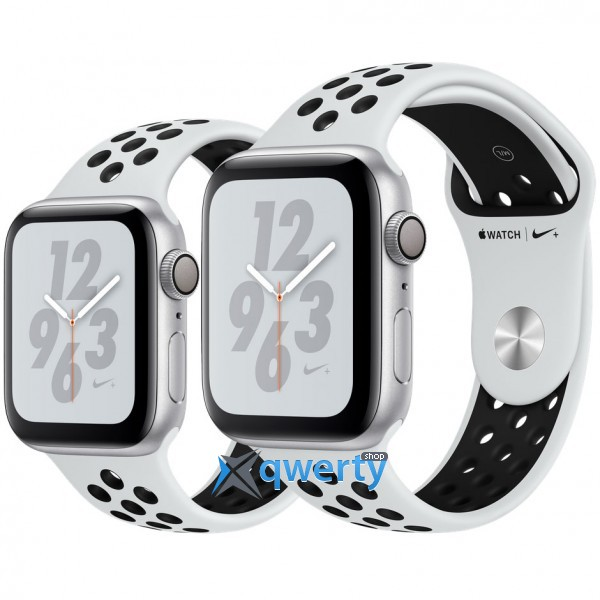 Apple Watch Nike+ Series 4 GPS (MU6K2) 44mm Silver Aluminum Case with Pure Platinum/Black Nike Sport Band