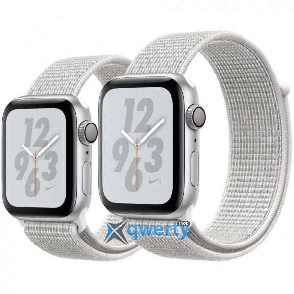 Apple Watch Nike+ Series 4 GPS (MU7H2) 44mm Silver Aluminum Case with Summit White Nike Sport Loop