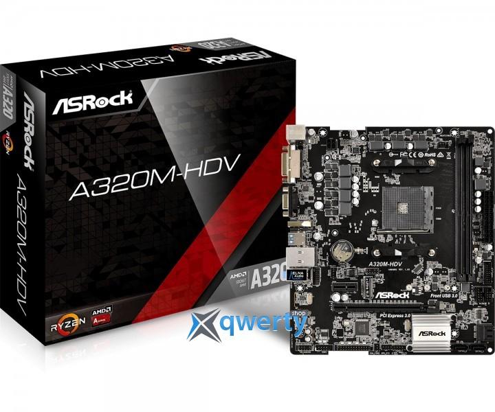 ASRock A320M-HDV (s-AM4 AMD A320, PCI-Ex16)