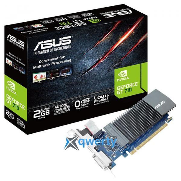 ASUS GeForce GT 710 2GB GDDR5 64-bit Silent LP (954/5012) (DVI, HDMI, D-Sub) (GT710-SL-2GD5)