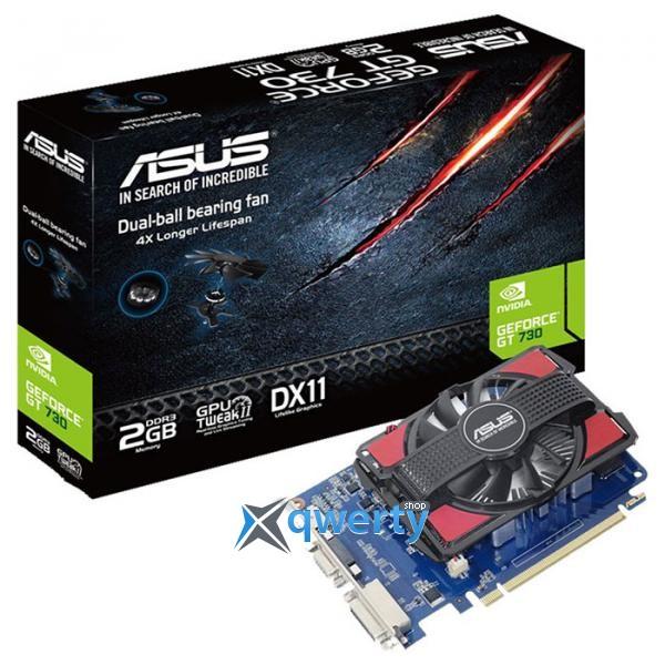 ASUS GeForce GT 730 2GB GDDR3 V2 (128bit) (700/800) (DVI VGA ,HDMI) (GT730-2GD3-V2)
