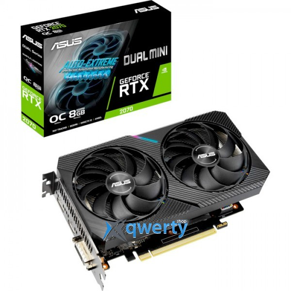 ASUS GeForce RTX 2070 8GB GDDR6 256-bit Dual Mini OC Edition OC (DUAL-RTX2070-O8G-MINI)