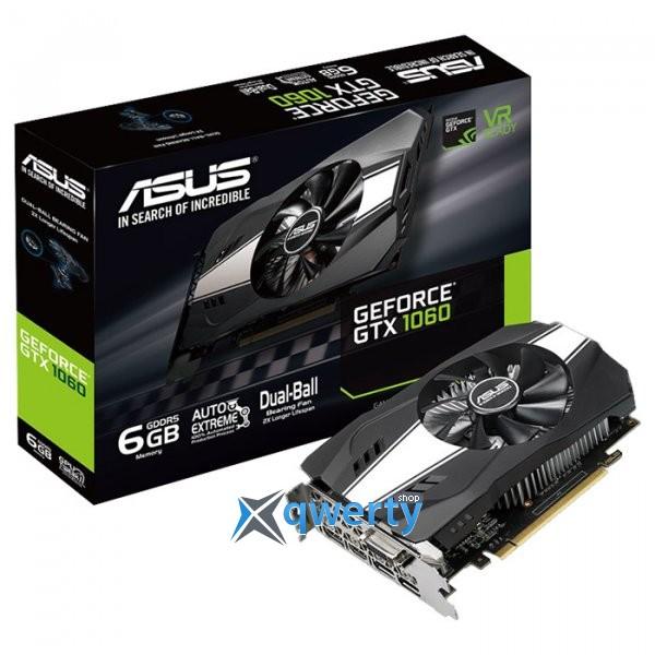 Asus PCI-Ex GeForce GTX 1060 Phoenix 6GB GDDR5 (192bit) (1506/8008) (DVI, HDMI, DisplayPort) (PH-GTX1060-6G)