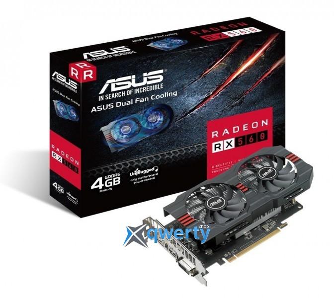 ASUS Radeon RX 560 2GB GDDR5 (128bit) (1149/6000) (DVI, HDMI, DisplayPort) OC AREZ EVO (AREZ-RX560-O2G-EVO)