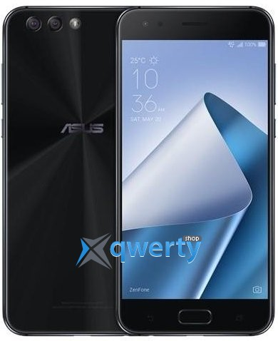 Asus ZenFone 4 (ZE554KL-1A009WW) DualSim Black + bumper (90AZ01K1-M01690)