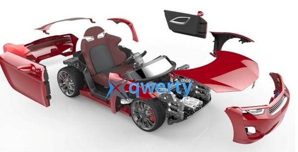 Автомобиль HENES детский; электро 12V; ПДУ Bluetooth 4.0; 8-16км/ч: кожаное кресло
