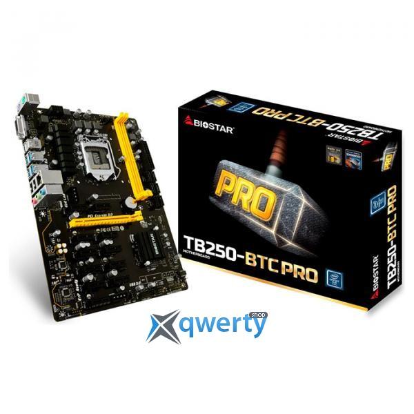 BIOSTAR TB250-BTC Pro Ver. 6.x (s1151, Intel B250, PCI-Ex16)
