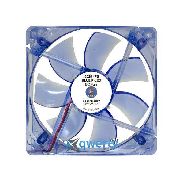 COOLING BABY 12025 4PS Blue LED (12025 4PS BLUE P-LED)