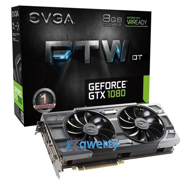 EVGA FTW DT GAMING GTX 1080 8GB GDDR5X (256bit) (1607/10000) (DVI, HDMI, DisplayPort) (08G-P4-6284-KR)