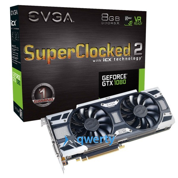 EVGA GeForce GTX 1080 FTW2 DT GAMING 8GB GDDR5X (256bit) (1607/10010) (DVI, HDMI, DisplayPort) (08g-p4-6684-kr)