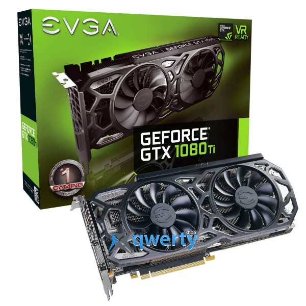 EVGA GeForce GTX 1080 Ti 11GB GDDR5X (352bit) (1556/11016) (DVI, HDMI, DisplayPort) SC BLack Edition (11G-P4-6393-KR)