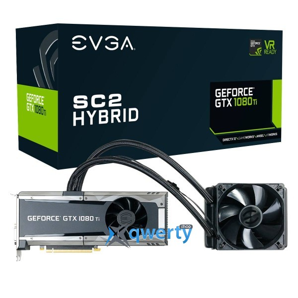 EVGA GeForce GTX 1080 Ti 11GB GDDR5X (352bit) (1556/11016) (DVI, HDMI, DisplayPort) SC2 Hybrid Gaming (11G-P4-6598-KR)